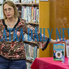 Author Sharon Buck gives attendees the background on the books she's written during a mystery-writing talk at the Melrose Library on Thursday afternoon. Fran Ruchalski/Palatka Daily News