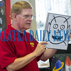 Ventriloquist Mark Wade had a conversation with this picture of an alien that he just drew during his performance at the Bostwick Library on Friday afternoon. He and his friends will be performing on Saturday at the Crescent City Library and at the ones in Interlachen and Melrose on Wednesday. Fran Ruchalski/Palatka Daily News