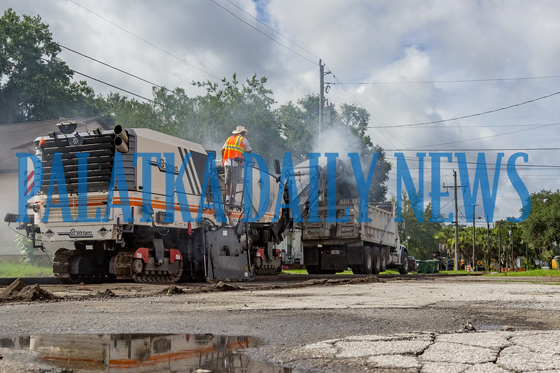 A crew started ripping up the roadway on S. 9th St. between St. Johns Ave. and Oak St. on Wednesday morning for the continuing construction on State Road 20. The work in that area is expected to last 6-8 weeks barring any weather delays. Fran Ruchalski/Palatka Daily News