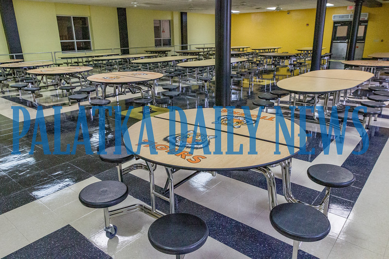 All new furniture has been installed in the Overturf cafeteria with Tigers logos throughout. Fran Ruchalski/Palatka Daily News