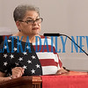 Rev. Jesten Peters gives the opening address for the Cry Out America 9/11 Prayer Gathering at St. James Methodist Church at noon Wednesday. Fran Ruchalski/Palatka Daily News