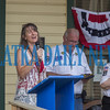 Amy Webster sings the National Anthem to get the Interlachen Independence Day Celebration started. Fran Ruchalski/Palatka Daily News.