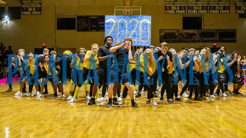 The senior class took home the prize for their dance routine at the PHS Homecoming Pep Rally Friday afternoon. Fran Ruchalski/Palatka Daily News