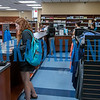 On the first day of school at St. Johns River State College, students lined up in the bookstore when it first opened to get their books for the semester. Fran Ruchalski/Palatka Daily News