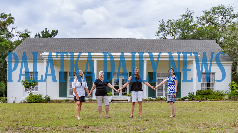 Doing their best to keep the GFWC Woman's Club of Palatka standing and operating are from left, Dee Parker, Edna Rivers, Elizabeth van Rensburg, and Linda Priest. The building needs some major updates to be able to function. Fran Ruchalski/Palatka Daily News