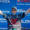 Holding up some of his catch on Friday, hometown favorite Cliff Prince moved into 14th place for the two days with a total weight of 36 pounds, 9 ounces to continue fishing in the Bassmasters Elite Series tournament on Saturday. Fran Ruchalski/Palatka Daily News