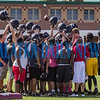 """The Crescent City Raiders come together before a break chanting """"Better today than yesterday."""" Fran Ruchalski/Palatka Daily News"""