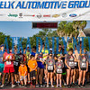The runners take their places on the starting line at the Beck 5K on Saturday morning at the riverfront. Fran Ruchalski/Palatka Daily News