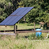 The Clay Ranch embraces new innovations like this solar-powered well that provides water to several of their pastures. Fran Ruchalski/Palatka Daily News