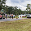 State Road 207 was closed on Monday near Orange Mills when a John Deere self-propelled crop sprayer and a black SUV tried to occupy the same space on the roadway and it didn't work out well. Hazmat procedures were enacted to clean up the chemicals leaked from the sprayer that was tipped over. Fran Ruchalski/Palatka Daily News