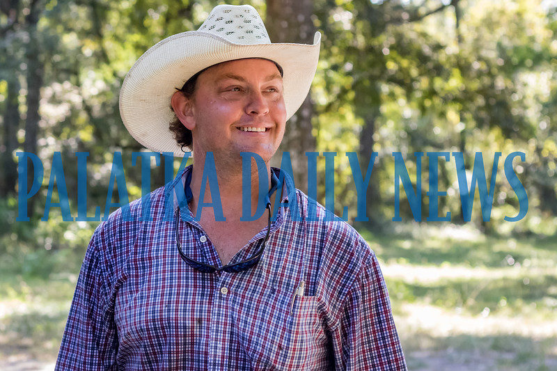 Chance Clay talks about the life of a seventh-generation farmer on the family ranch. Fran Ruchalski/Palatka Daily News