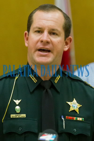 Putnam County Sheriff Gator DeLoach talks about a bank card skimming operation that was recently cracked in Putnam, Duval, Clay and other counties. Fran Ruchalski/Palatka Daily News