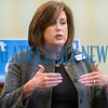 Melissa Nelson, president of United Way of St. Johns County announces at a press conference on Wednesday morning that her organization will begin funding projects in Putnam County to deal with community issues. Fran Ruchalski/Palatka Daily News