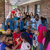 The line for the Life South backpack giveaway stretched all the way from the front doors to the rear of the building. Staff said people were lining up as early as 7 a.m. on Friday morning. Fran Ruchalski/Palatka Daily News