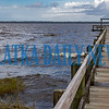 The water in Crescent Lake is getting very choppy with white caps and water splashing over the pier at Fletcher Park Monday afternoon. Fran Ruchalski/Palatka Daily News
