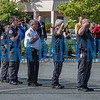 Uniformed personnel participate in the National Anthem during the ceremony. Fran Ruchalski/Palatka Daily News