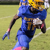 Palatka senior Wesley Roberts (11) carries the ball in the second half of their game with Santa Fe. Fran Ruchalski/Palatka Daily News