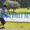 Five-year-old Brodie Parsons tries to launch a ball on the driving range during golf instructions for kids on Tuesday morning at the Palatka Golf Club. Fran Ruchalski/Palatka Daily News
