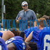 Interlachen head coach Matt Yancey talks to his team about their performance on the first day of preseason practice and what he expects as the season approaches. Fran Ruchalski/Palatka Daily News
