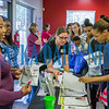Many visitors to the Life South backpack giveaway picked up health-related information while they were there. Fran Ruchalski/Palatka Daily News