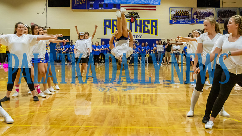 The freshman class do their thing at the PHS Homecoming Pep Rally Friday afternoon. Fran Ruchalski/Palatka Daily News