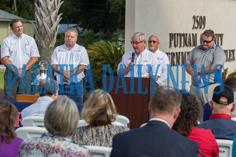 Members of the Putnam County Board of County Commissioners took turns reading the proclamation they had passed in honor of Patriot Day, the name given to the 9/11 anniversary day. Fran Ruchalski/Palatka Daily News
