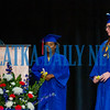 Graduates Zabrya Hendreth, center, and Logan Scapellati received special awards at the end of the graduation ceremony. Fran Ruchalski/Palatka Daily News