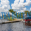Palatka firefighters pump river water through their pumps in Engine 22 and spray it back into the river on Tuesday afternoon at the city boat ramp at Riverfront Park. The department tests all the pumps on all the trucks in this way at least once a year. Fran Ruchalski/Palatka Daily News