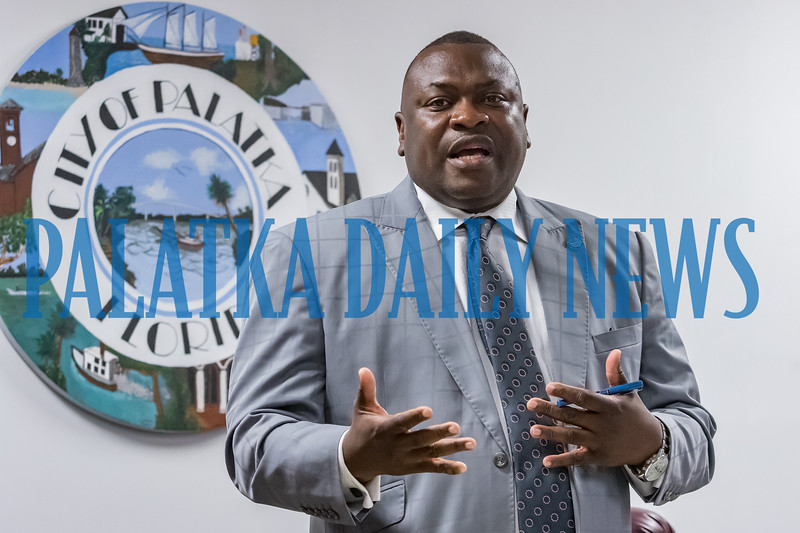 Mayor Terrill Hill talks about his frustrations in trying to come up with a plan that would give the city departments the facilities and space that they need to function efficiently at the city commission meeting Thursday night. Fran Ruchalski/Palatka Daily News