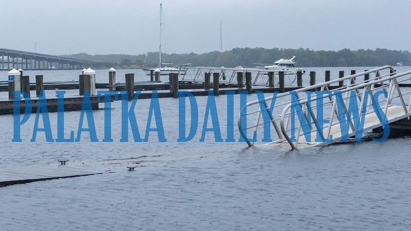City docks along River Street in Palatka were submerged in the St. Johns River in the wake of Hurricane Dorian early Wednesday morning. Fran Ruchalski/Palatka Daily News