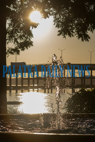 Water dances in the fountain at the riverfront in the light of the new day on Thursday morning. Fran Ruchalski/Palatka Daily News