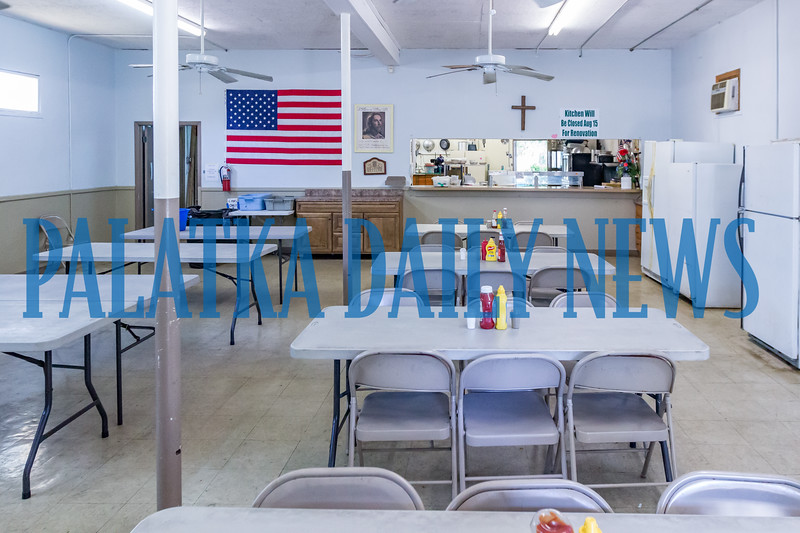 The dining area of Bread of Life soup kitchen sits empty as remodeling of the facility is about to take place. Fran Ruchalski/Palatka Daily News
