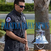 Firefighter John Allender rings the Fire Service Bell with three strikes of three which symbolizes a firefighter's end of duty. Fran Ruchalski/Palatka Daily News