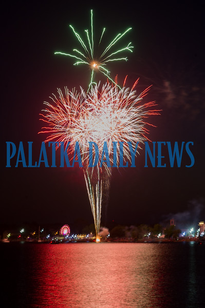 One of the highlights of the Blue Crab Festival on Saturday night was the fireworks show over the St. Johns River. Fran Ruchalski/Palatka Daily News