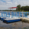 The fleet at Hallie's Landing includes paddle boats for rent on Lake Stella and Lloyd Reeves' World War II era submarine. Fran Ruchalski/Palatka Daily News