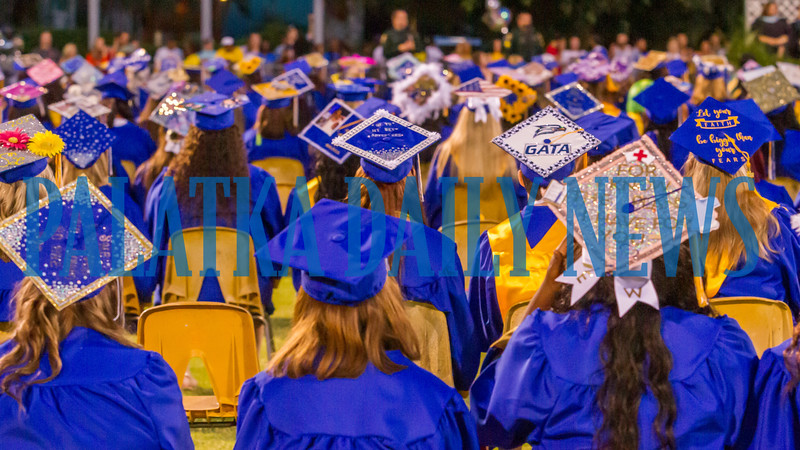 Artistic touches and motivational messages could be seen on mortarboards throughout the Class of 2019 during graduation. Fran Ruchalski/Palatka Daily News