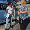 C. H. Price Middle School principal Mechele Higginbotham opens doors and welcomes students back on their first day of school. Fran Ruchalski/Palatka Daily News