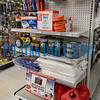 The hurricane preparedness section at the Hagan Ace Hardware store in East Palatka still has some supplies, but they are selling quickly. Fran Ruchalski/Palatka Daily News