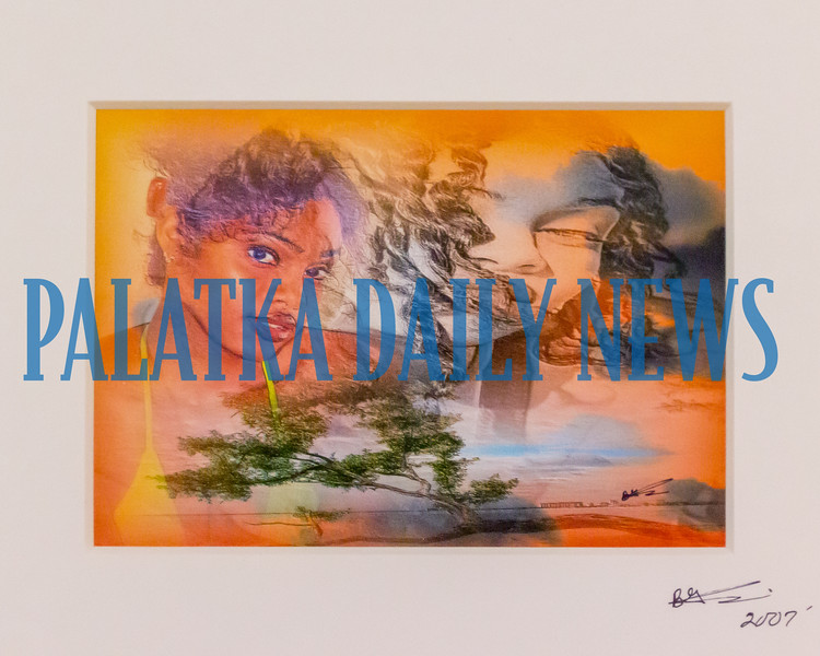 Photo of artwork by Barry Smith which will be on display during the African American Festival of Arts at the Palatka library beginning this Saturday. Fran Ruchalski/Palatka Daily News