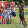 Crescent City Rams Jeremiah Roofe catches a pass during receiver drills during practice on Tuesday afternoon. Fran Ruchalski/Palatka Daily News