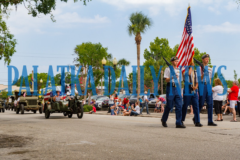 The kickoff of the Memorial Day parade down St. Johns Avenue on Monday morning. Fran Ruchalski/Palatka Daily News