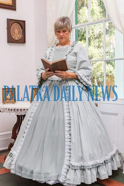 As part of the Occupation of Palatka, Civil War re-enactment, Bobbie Weller will be wearing a dress that belonged to Joanne L. Jones who was a resident docent at the Bronson-Mulholland House. Fran Ruchalski/Palatka Daily News