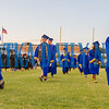 The Palatka High School Class of 2019 parades out onto the field at The Pit as graduation ceremonies begin. Fran Ruchalski/Palatka Daily News