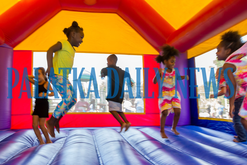 While they were picking up backpacks and school supplies, the kids could also enjoy some time in some bounce houses at the PAL Back To School Bash. Fran Ruchalski/Palatka Daily News