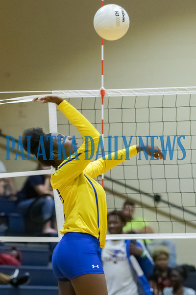 Palatka junior Terrionna Fullwood (21) goes up for a shot in the match with Crescent City. Fran Ruchalski/Palatka Daily News