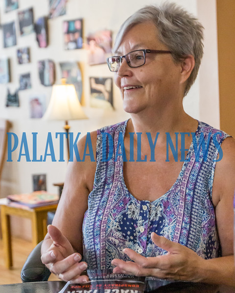 Donna Clooney of Turning Tables in Crescent City talks about the goals of the group and their areas of interest on Friday afternoon. Fran Ruchalski/Palatka Daily News