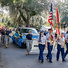 The Interlachen High School ROTC led the homecoming parade down Atlantic Avenue and back down Boylston Street on Thursday night. Fran Ruchalski/Palatka Daily News