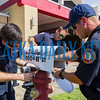 Palatka firefighers install their new mailbox outside the station on 11th Street on Monday morning. Fran Ruchalski/Palatka Daily News