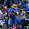 Palatka senior Malik Beauford (10) takes the ball into the end zone in the first half of their game with Santa Fe. Fran Ruchalski/Palatka Daily News