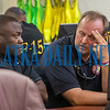 Palatka Mayor Terrill Hill and Fire Chief J. R. Grimes talk during the briefing about Hurricane Dorian at the emergency operations Center Thursday afternoon. Fran Ruchalski/Palatka Daily News